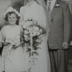 Mom and Dad and my adopted sister Sandra, July 17, 1952
